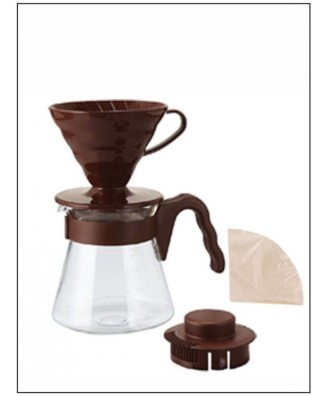 HARIO set V60 dripper + server + filters brown